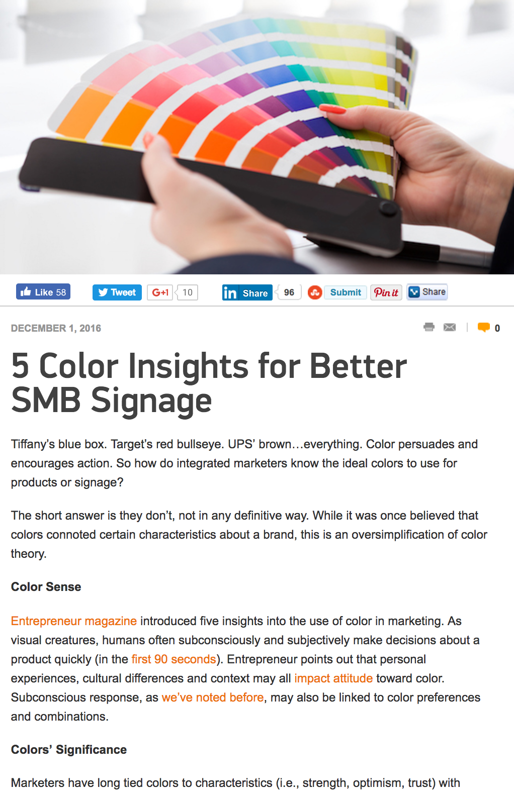 5 Color Insights - Marketing Tango