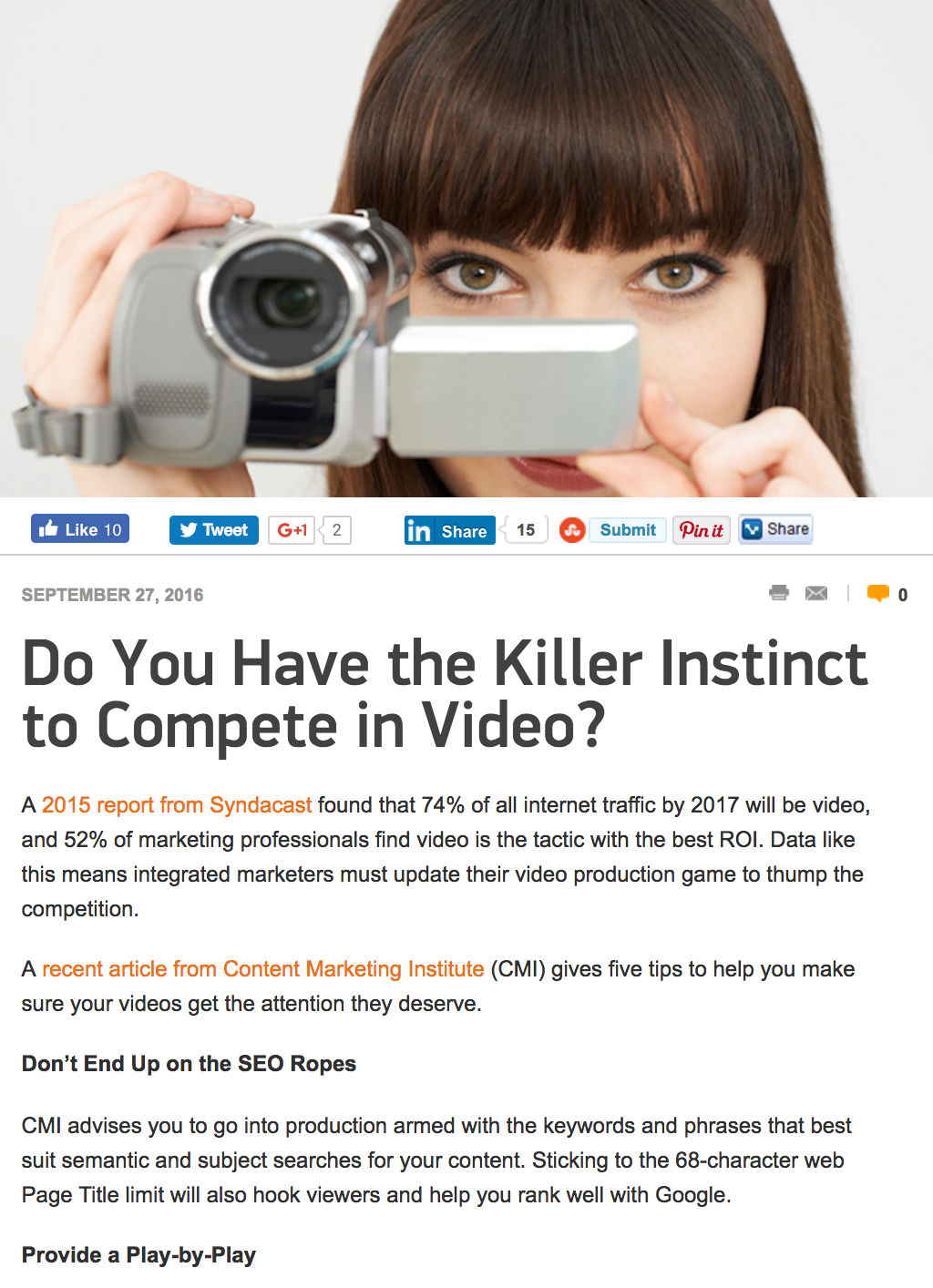 Compete in Video - Marketing Tango