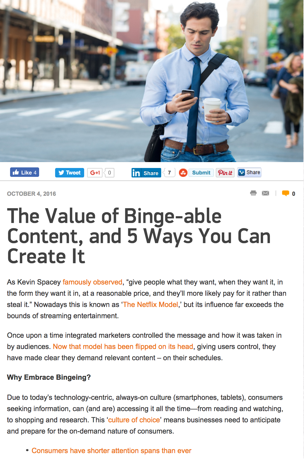 The Value of Binge-able Content - Marketing Tango