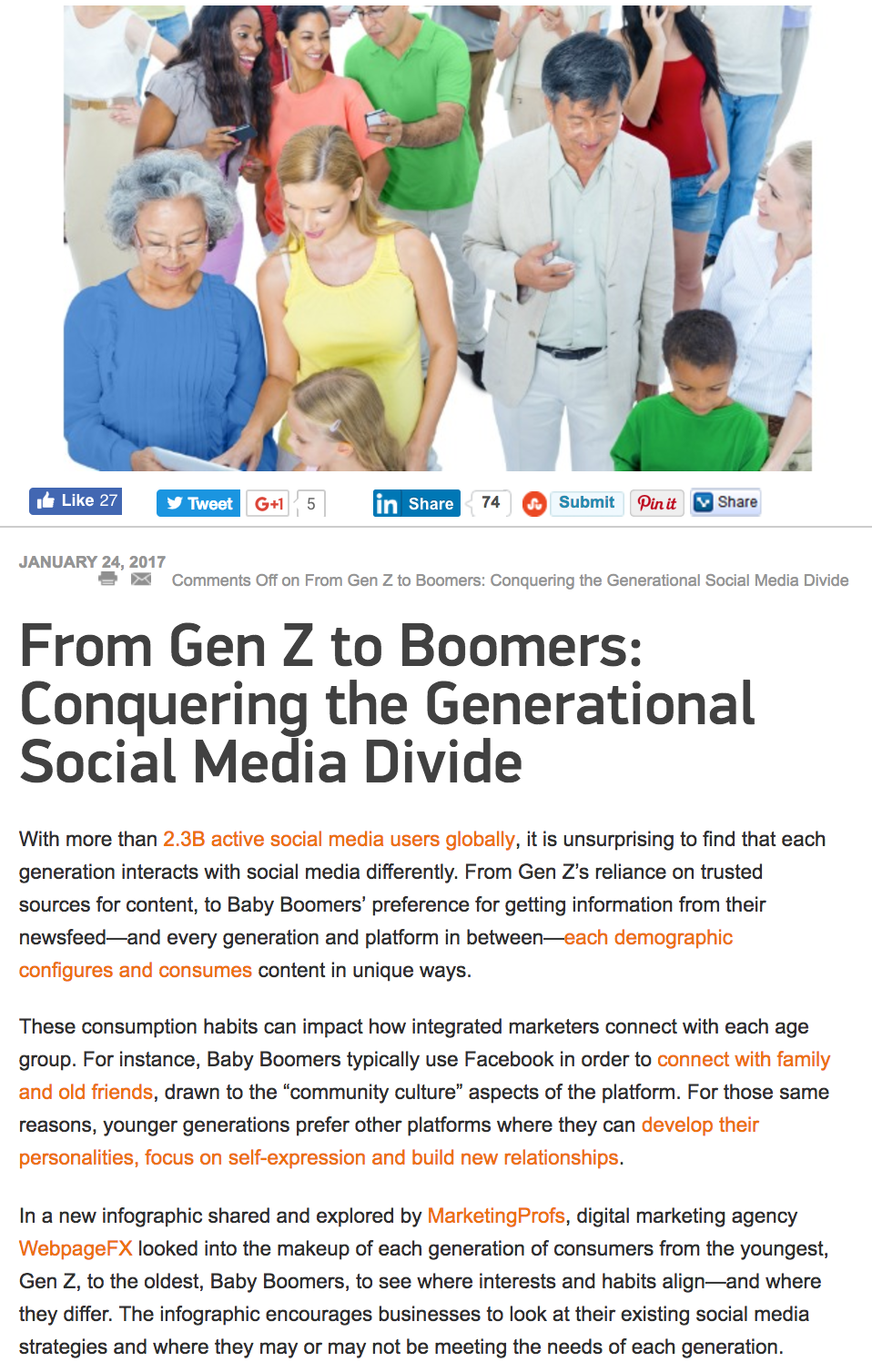 From Gen Z to Boomers - Marketing Tango